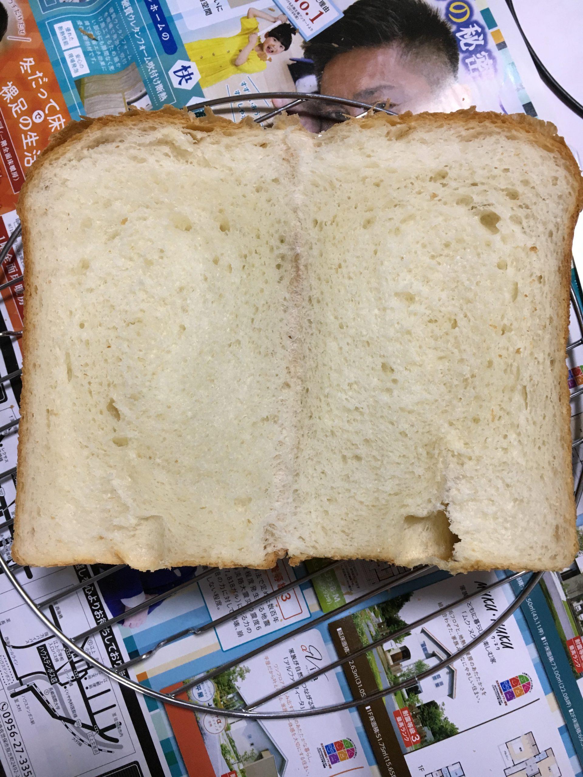 湯種食パン断面