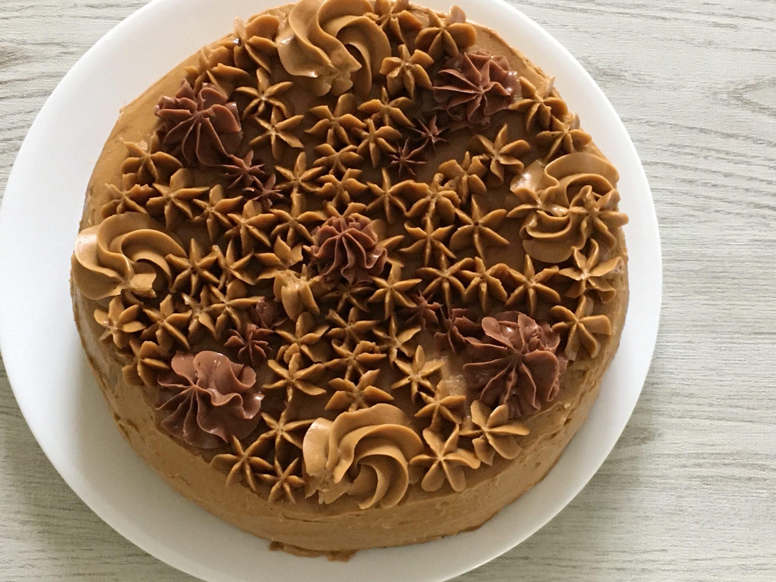 コーヒーバタークリームのケーキ
