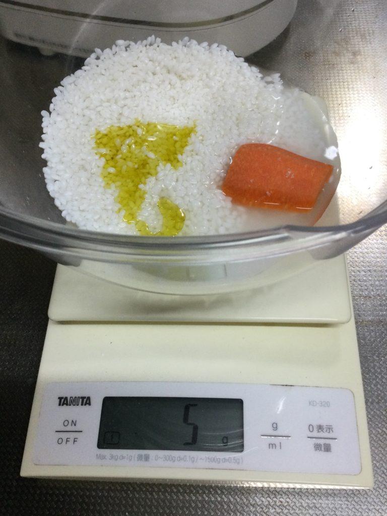 ニンジン入り生米パン材料2